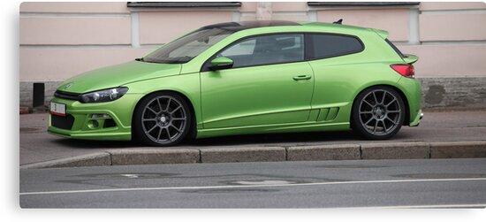 green sports car by mrivserg