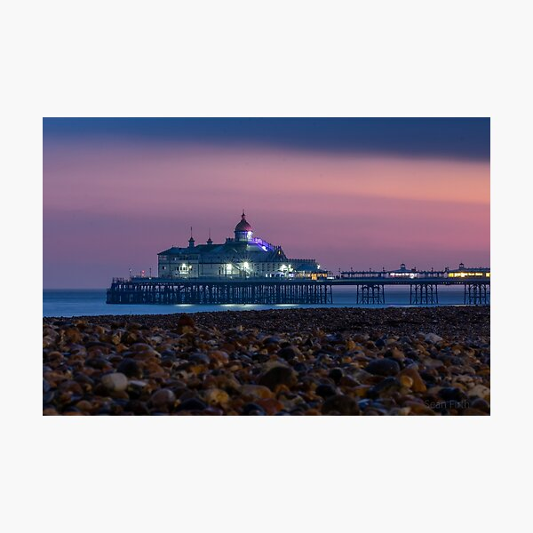 Eastbourne Pier at night Photographic Print