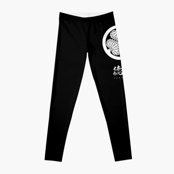 Tokugawa Clan Family Crest Kamon - White Title Version Leggings