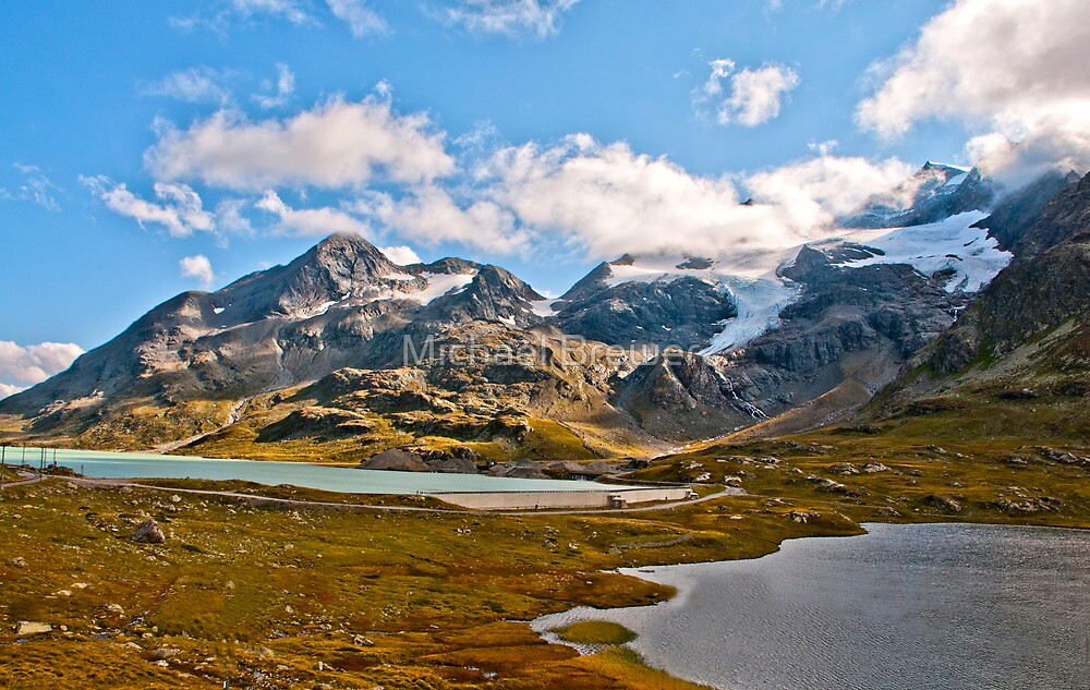 The lakes at the Bernina Pass by Michael Brewer