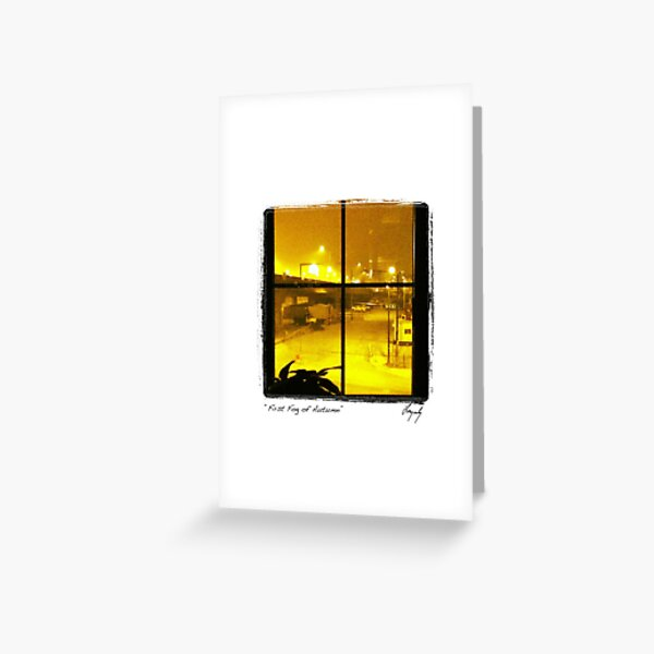 First Fog of Autumn Greeting Card