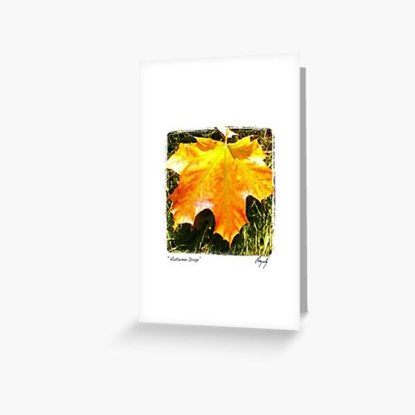 Autumn Drop Greeting Card