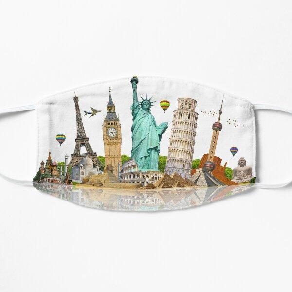 Monuments of the world - landmarks Flat Mask