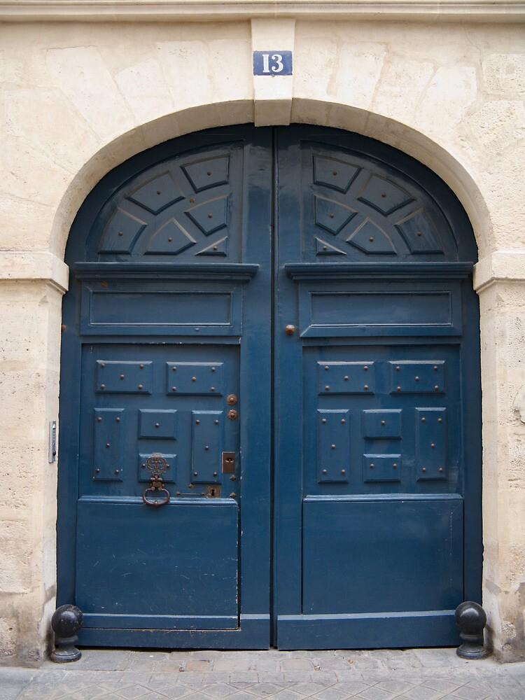 Paris Blue Door by Flo Smith