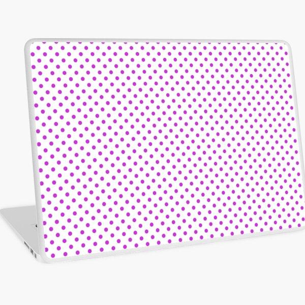 Pattern mallow dots, on white background Laptop Skin
