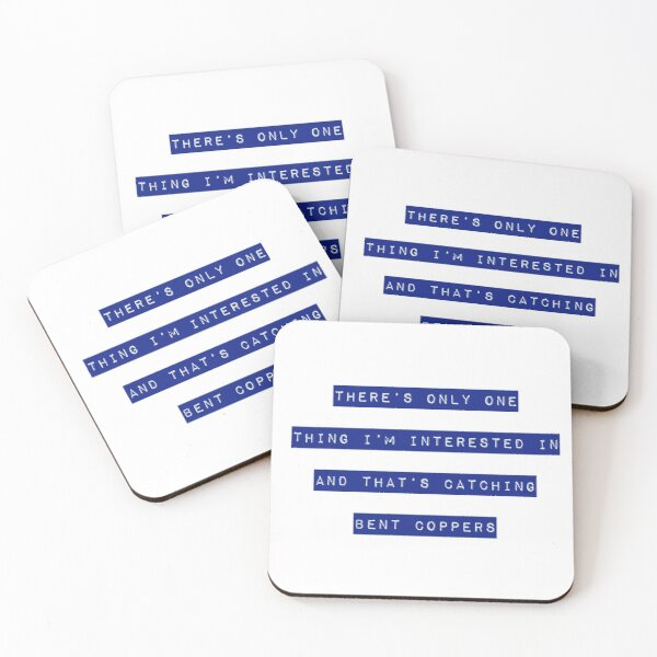 Bent Coppers - Line of Duty 2 Coasters (Set of 4)
