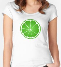 Lime Women's Fitted Scoop T-Shirt