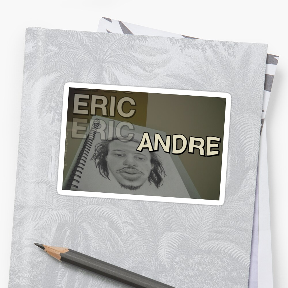 """""""Eric Andre Drawing - Net Worth $0 meme """" Sticker by ..."""