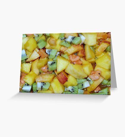 Tropical Salad Greeting Card