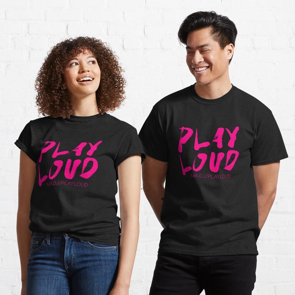 Play Loud Logo (pink) Classic T-Shirt