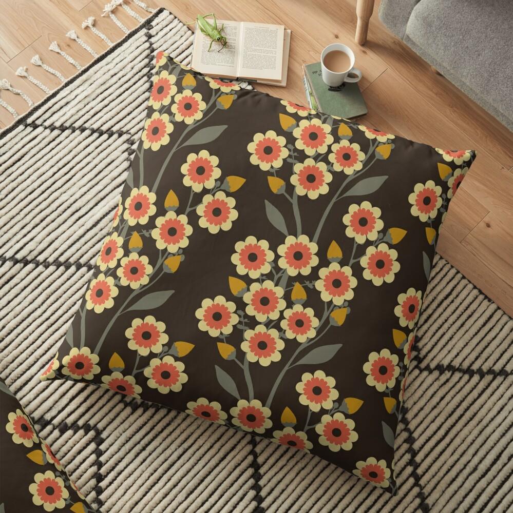 Hot Summer Night Floor Pillow