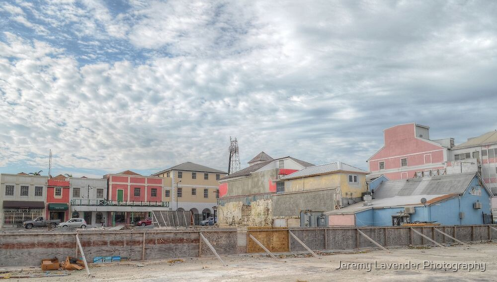 Bay Street (View from Prince George Wharf) in Downtown Nassau, The Bahamas by Jeremy Lavender Photography