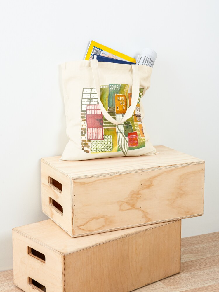 Alternate view of Hong Kong Tong Lau (Old style Chinese shophouse) Tote Bag