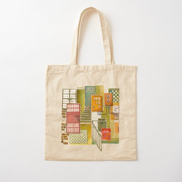 Hong Kong Tong Lau (Old style Chinese shophouse) Cotton Tote Bag