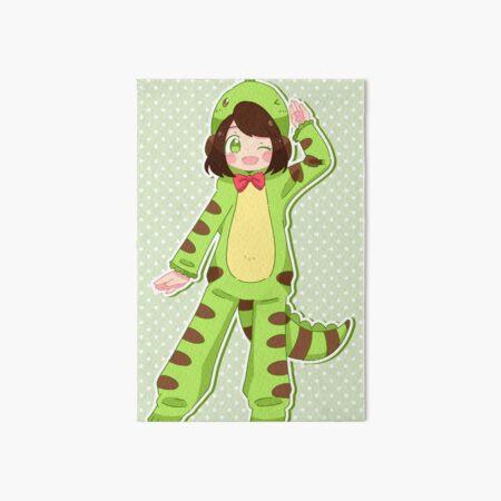 Dino Girl Art Board Print