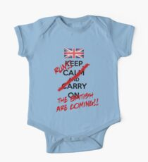 The British Are Coming! (black text) Kids Clothes