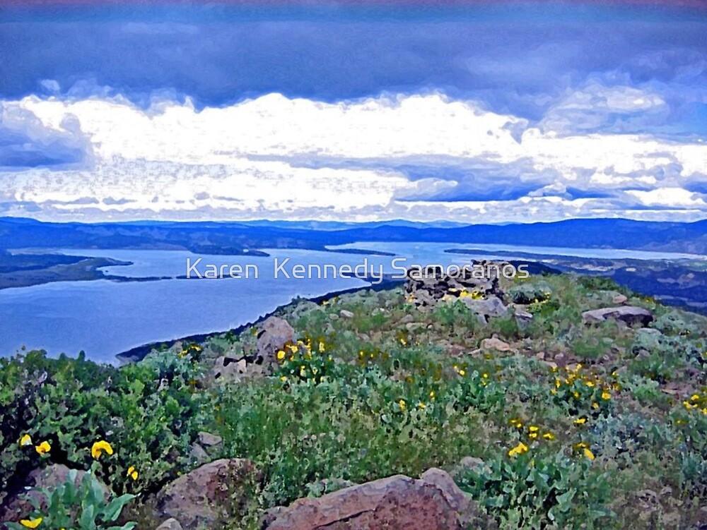 Eagle Lake from Gallatin Peak by Karen  Kennedy Samoranos