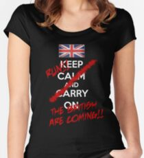 The British Are Coming! (white text) Women's Fitted Scoop T-Shirt