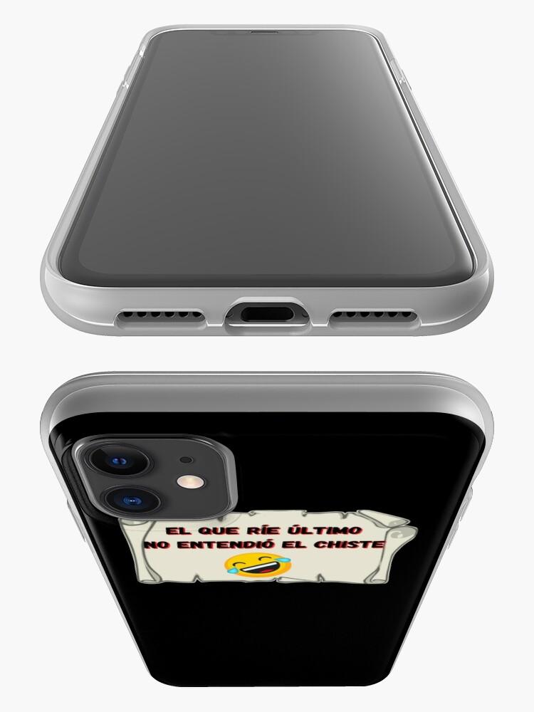 Vista alternativa de Funda y vinilo para iPhone El que ríe el último no entendió el chiste