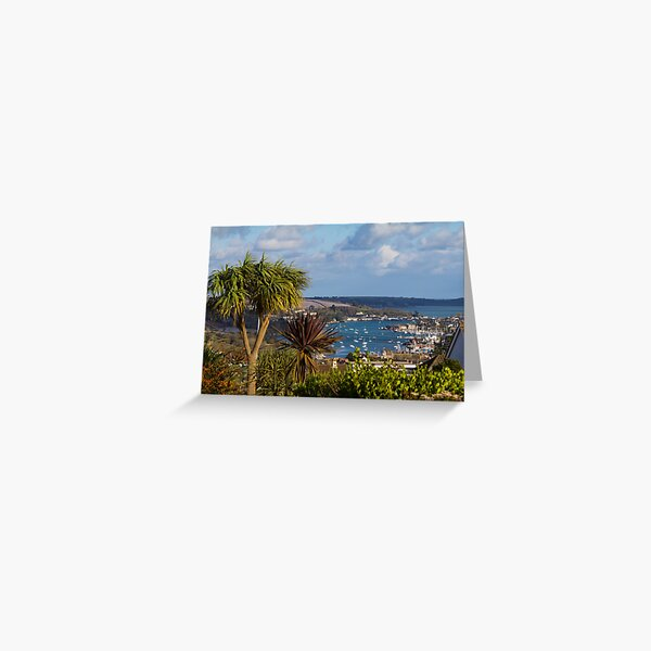 A photograph of Falmouth from Penryn Cornwall Greeting Card