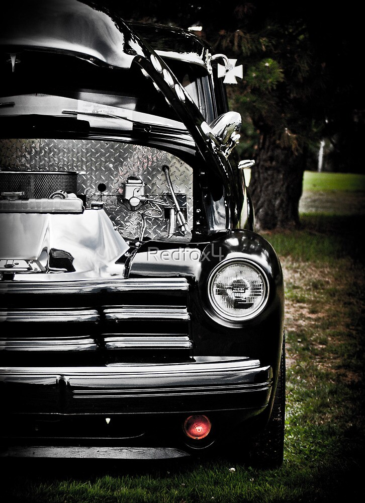 HDR Vintage Black Chevy by Redfox4