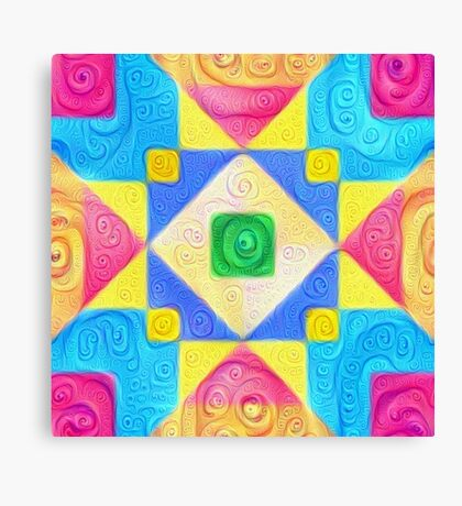 #DeepDream Color Squares Visual Areas 5x5K v1448181063 Canvas Print