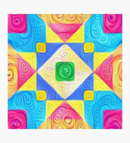 #DeepDream Color Squares Visual Areas 5x5K v1448181063 Photographic Print