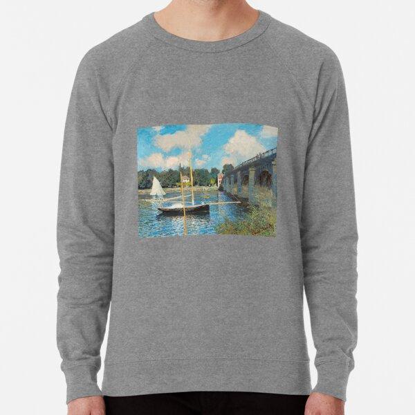 The Bridge at Argenteuil by Claude Monet  Lightweight Sweatshirt