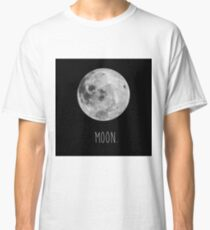 Moon, satellite of planet Earth Classic T-Shirt