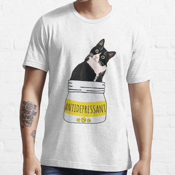 Antidepressant cat shirt Black Cat Lovers Gift Essential T-Shirt