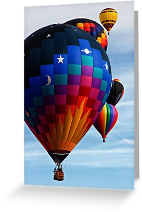 Colorful Flight, Balloon Festival, Statesville, NC by Denise Worden