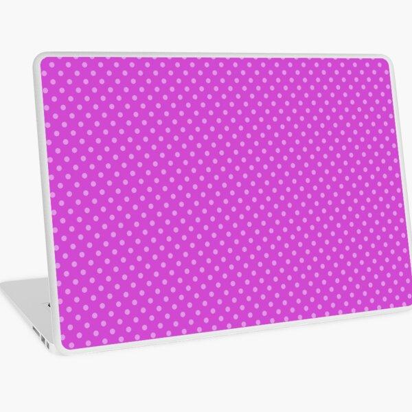 Pattern mallow dots, on mallow background Laptop Skin