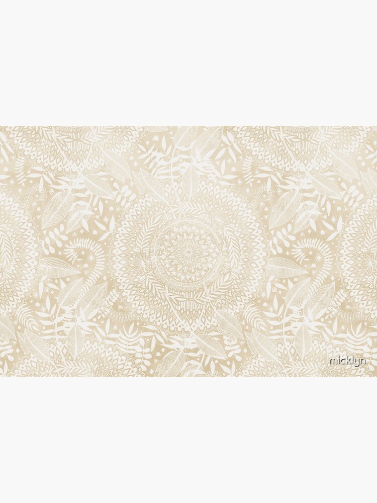 Medallion Pattern in Pale Tan by micklyn
