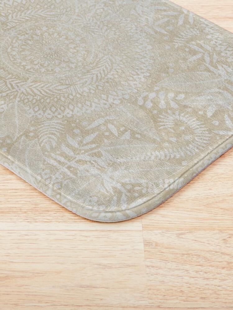 Alternate view of Medallion Pattern in Pale Tan Bath Mat