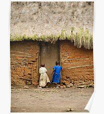 Girls Playing   Mweso, DRC Poster