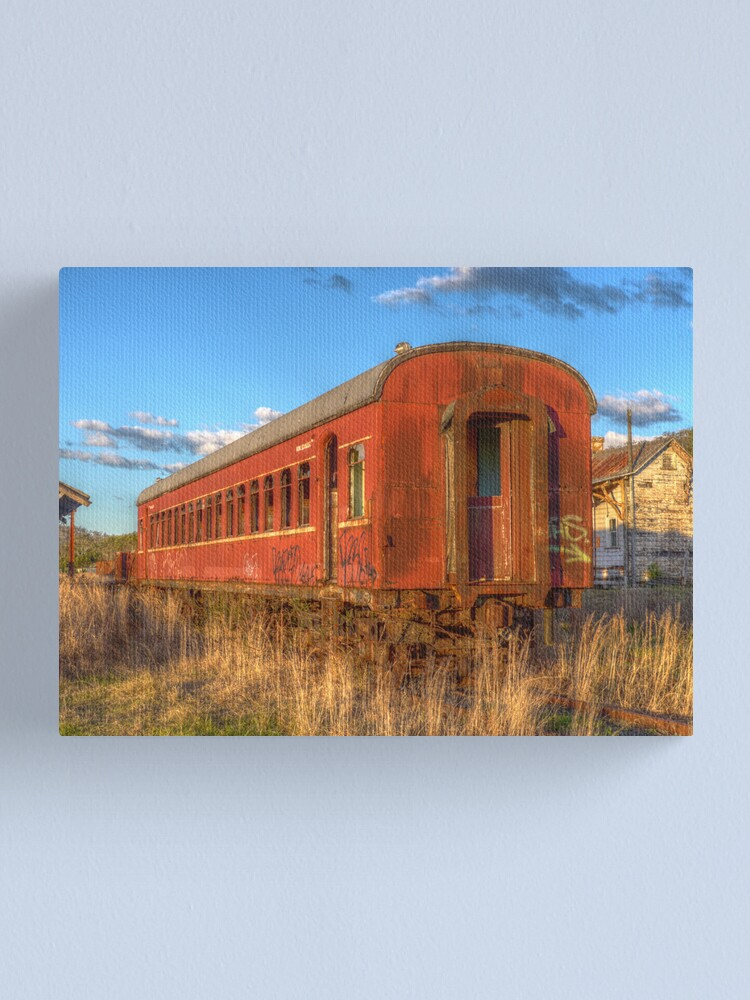 Alternate view of Off the rails Canvas Print