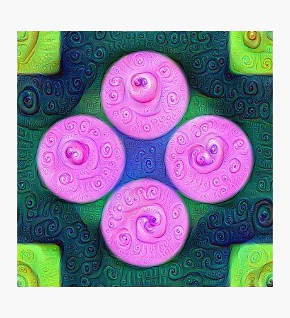 #DeepDream Color Squares Circles Visual Areas 5x5K v1448204645 Photographic Print