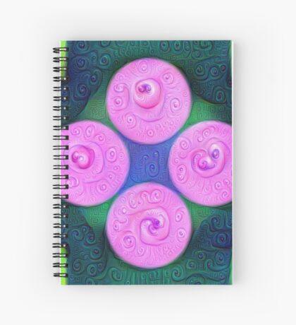 #DeepDream Color Squares Circles Visual Areas 5x5K v1448204645 Spiral Notebook