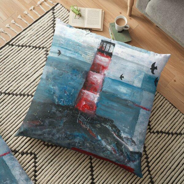 Lighthouse Rock Floor Pillow