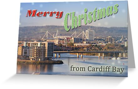 Happy Christmas from Cardiff Bay by CHRISTOPHER WARE