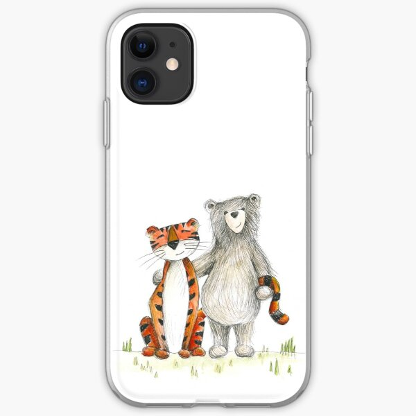 Bear & Tiger Friends iPhone Soft Case