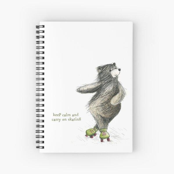 Skating Bear Spiral Notebook