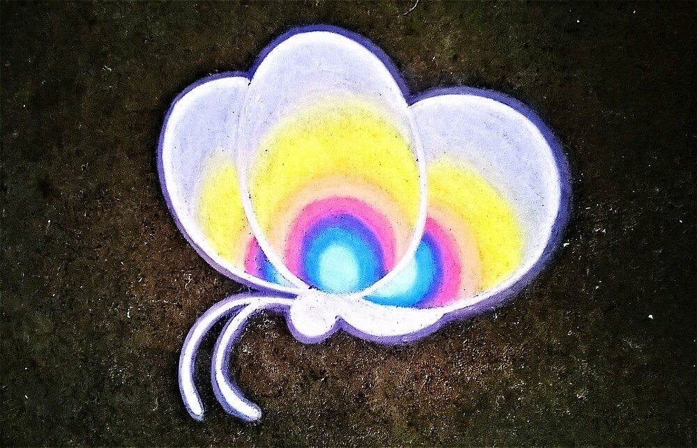Rainbow Butterfly by Amy Phillips