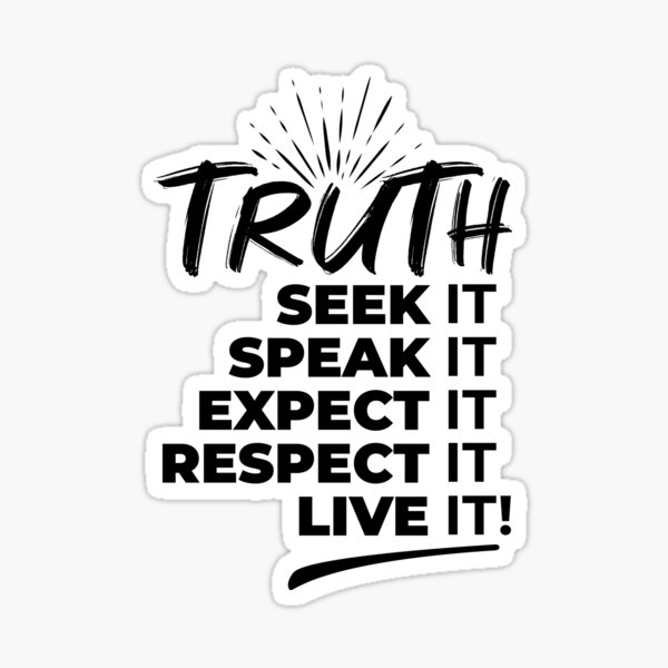 Living the Truth Sticker