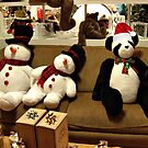 Panda and Snowmen Ready for Christmas by Jane Neill-Hancock