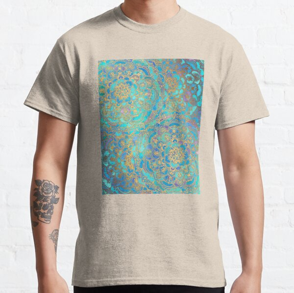 Sapphire & Jade Stained Glass Mandalas Classic T-Shirt