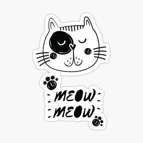 cat lovers tshirt Sticker