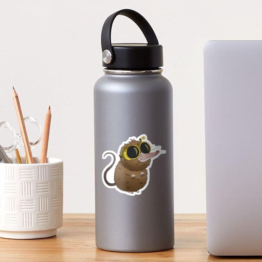 Cute Steampunk Shrew Animal with Glasses Sticker
