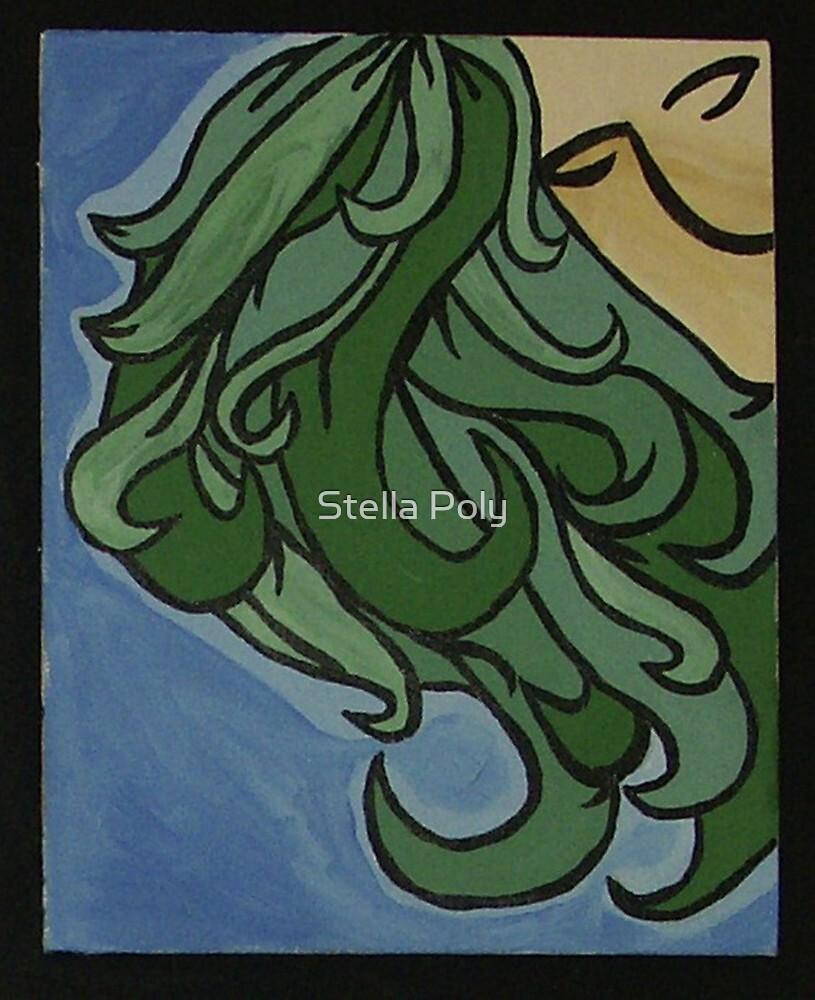 Green hair by Stella Poly