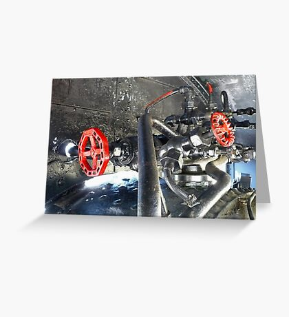 Valves and Pipes Greeting Card